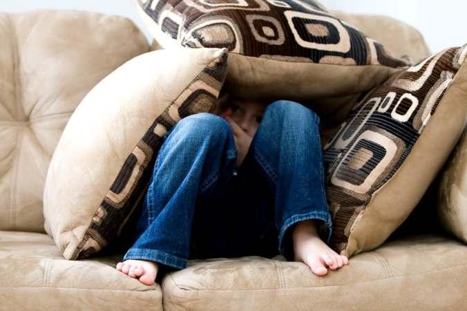 child on lounge
